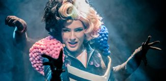 Colette Lennon as the Sugar Witch in Hansel and Gretel at the MAC, Belfast