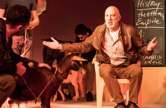 Carlos Chahine in Goats at the Royal Court. Photo: Johan Persson