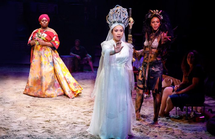 The cast of Once on This island at Circle in the Square, new York. Photo: Joan Marcus