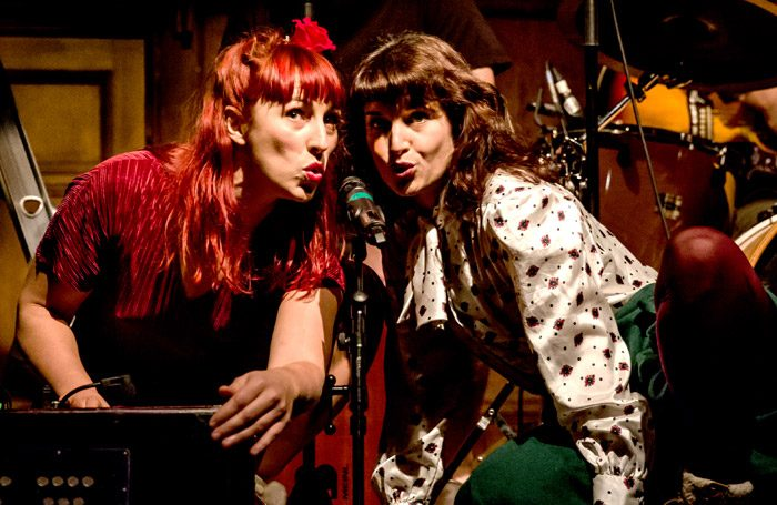 Abbi Greenland as Rose Red and Helen Goalen in Snow White and Rose Red at Battersea Arts Centre. London. Photo: The Other Richard