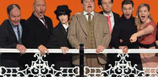 Cast of One Man Two Guvnors at the Old Joint Stock Theatre, Birmingham