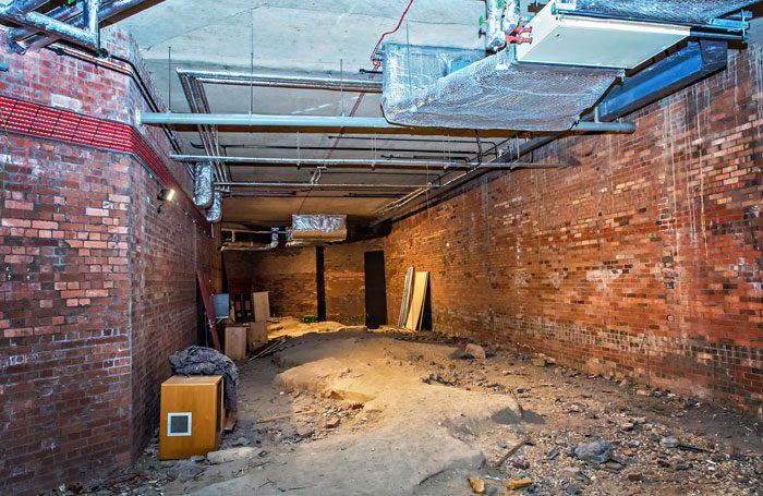 Current Bramall Rock Void space in West Yorkshire Playhouse before redevelopment. Photo: Anthony Robling