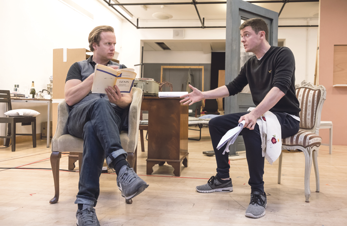 Geoffrey Streatfeild and Emmet Byrne in rehearsals for the Hampstead Theatre revival. Photo: Marc Brenner