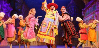 The cast of Dick Whittington at the Everyman Theatre, Cheltenham