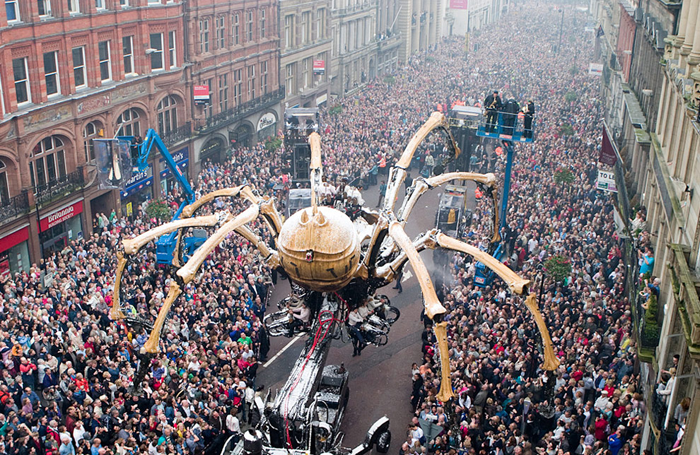 French company's La Machine's spider was showcased in Liverpool as part of the 2008 European Capital of Culture celebrations