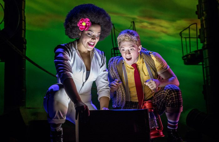 Lilli Cooper and Ethan Slater in SpongeBob SquarePants on Broadway. Photo: Joan Marcus