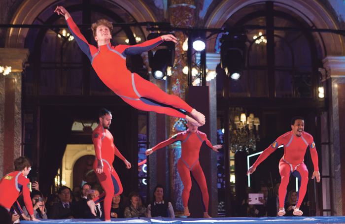 Elizabeth Streb's Extreme Action Group performing at CityLab Paris. Photo: Melanie Leigh Wilbur