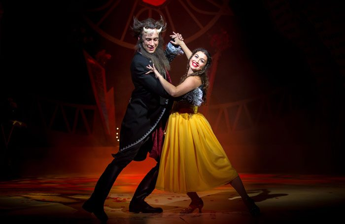 James Lawrence and Daniella Piper in Beauty and the Beast at Queen's Theatre Hornchurch. Photo: Mark Sepple