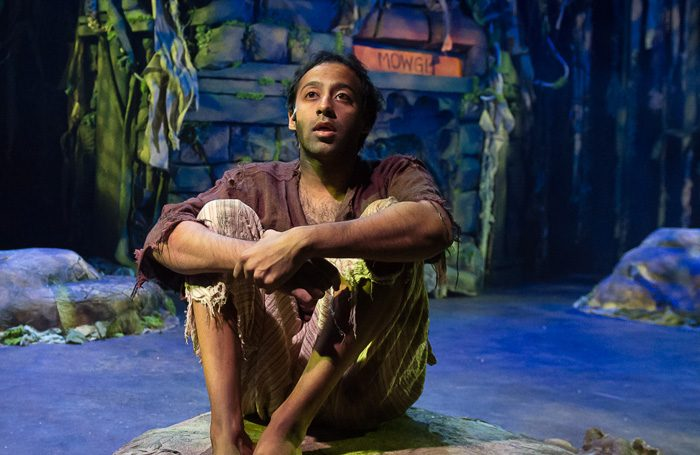 Asif Majid as Mowgli in the Jungle Book at Unity Theatre. Photo: Brian Roberts