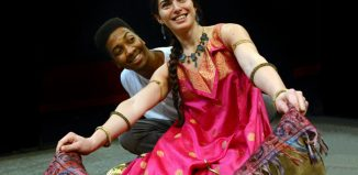 Marcquelle Ward and Dora Rubinstein in Aladdin at the Dukes, Lancaster