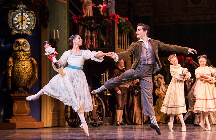 Francesca Hayward and Tristan Dyer in The Nutcracker at the ROH, London. Photo: Tristram Kenton