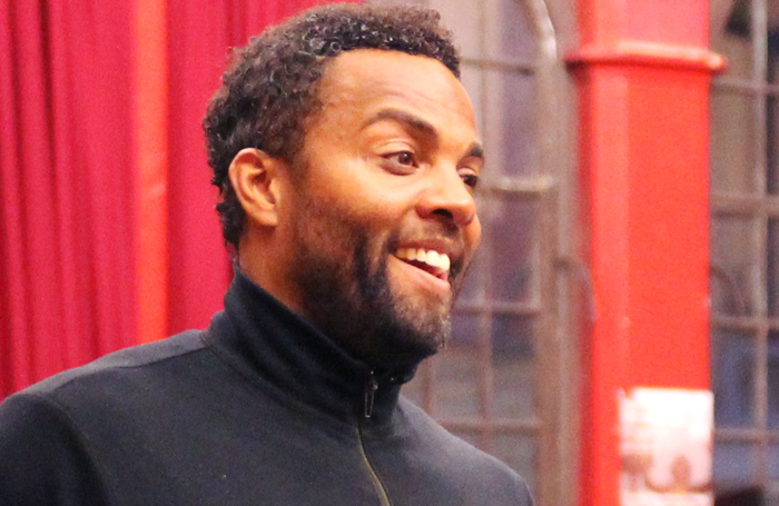 Ray Fearon in rehearsal for Guys and Dolls at the Royal Exchange. Photo: Anneka Morley