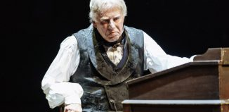 Phil Davis in A Chriistmas Carol at Royal Shakespeare Theatre, Stratford-upon-Avon. Photo: Manuel Harlan