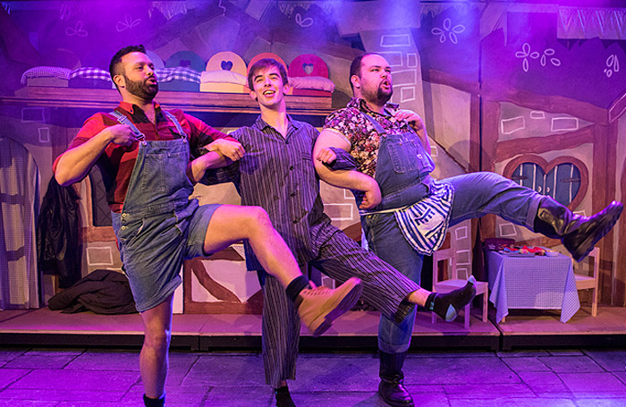 Scene from Snow White – Rotten to the Core at Above the Stag, London