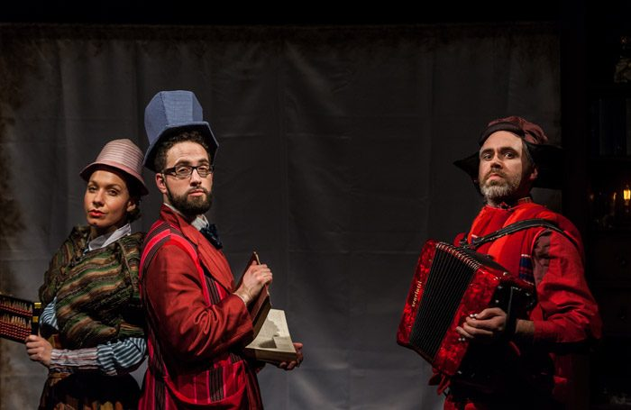 Scene from Once Upon a Snowflake at Chelsea Theatre, London. Photo: Paper Balloons