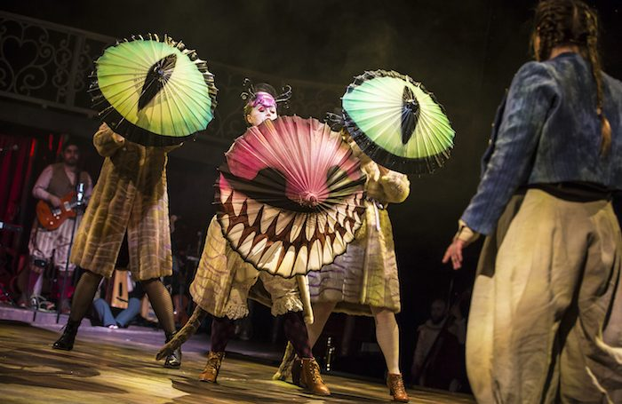 Clara Darcy as the Cheshire Cat in Alice in Wonderland at Northern Stage. Photo: Pamela Raith Photography