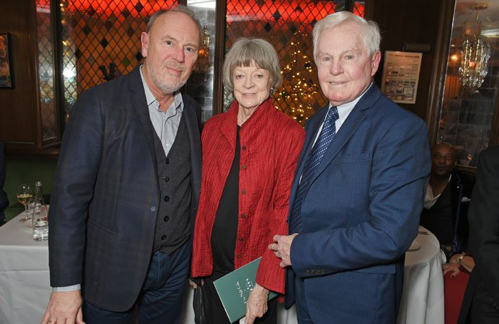 Richard Clifford, Maggie Smith and Derek Jacobi took part in One Night Only at the Ivy to raise money for Acting for Others. Photo: Dave Benett