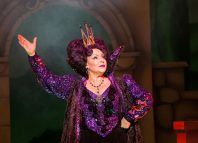 Harriet Thorpe as the Wicked Queen in Show White at Theatre Royal Bath. Photo: Freia Turland