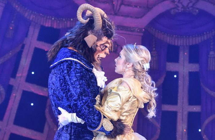 Nathan Turner and Louise Olley in Beauty and the Beast at Derby Arena. Photo: Robert Day