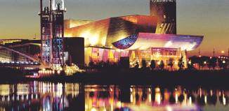 The Lowry Centre in Manchester is one of the success stories commissioned with the aid of funding grants from the National Lottery. Photo: Len Grant