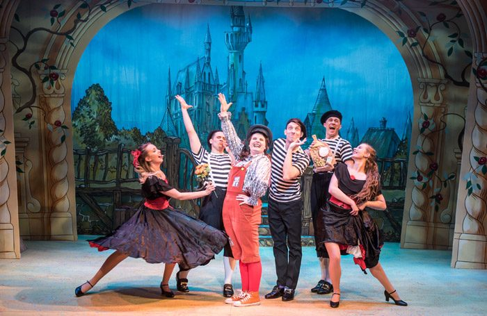 The cast of Beauty and the Beast at Corn Exchange, Newbury. Photo: Savannah Photographic