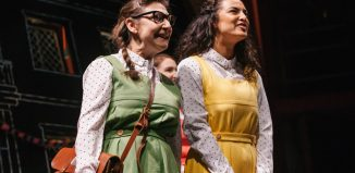 Pauline McLynn and Anna Shaffer in Daisy Pulls It Off at Park Theatre, London