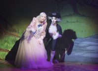 Judy Cornwell and Georgie Leatherland in Dick Whittington at Yvonne Arnaud Theatre, Guildford. Photo: Bryan Allman