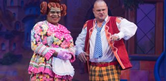 Clive Rowe and Al Murray in Jack and the Beanstalk at New Wimbledon Theatre. Photo: Craig Sugden