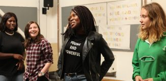 Young people at the Yard Theatre, east London