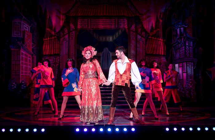 Zoe George and Jaymi Hemsley in Aladdin at Royal and Derngate. Photo: Graeme Braidwood
