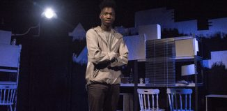 Joshua Asare as Pip in Great Expectations at Old Red Lion.