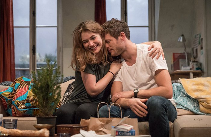 Imogen Poots and James Norton in Belleville at the Donmar Warehouse, London. Photo: Marc Brenner