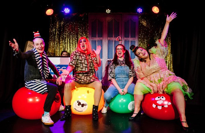 The cast of Beans at Canal Cafe Theatre, London. Photo: Alex Brenner