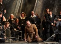 The cast of Rigoletto at Royal Opera House, London. Photo: Mark Douet