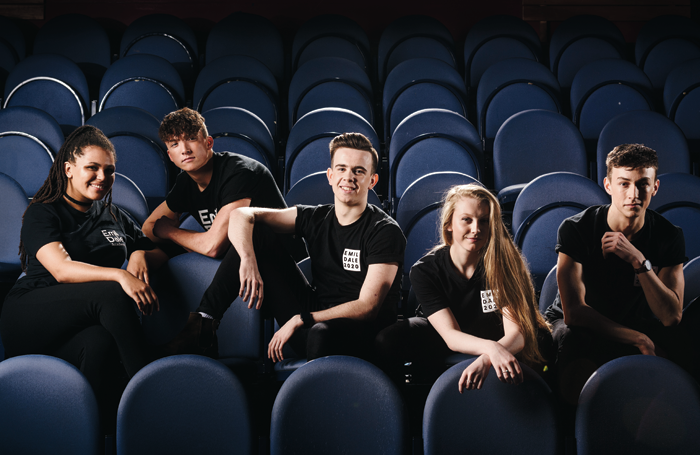 Nina Beckwith, Benjamin Kempton, Joe Churms, Caitlin McNally and Sam Hull. Photo: Alex Brenner