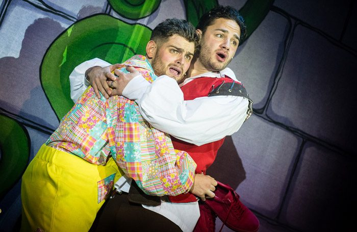 Scene from Jack and the Beanstalk at Pantodrome, Newcastle-upon-Tyne