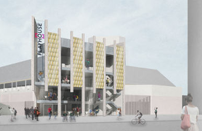 Artist impression of the new entrance at West Yorkshire Playhouse. Credit: Page Park