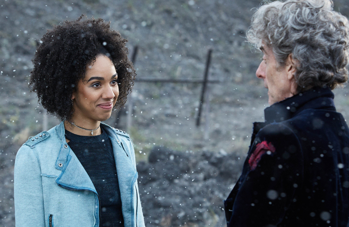 Pearl Mackie with Peter Capaldi in Doctor Who. Photo: BBC/BBC Worldwide