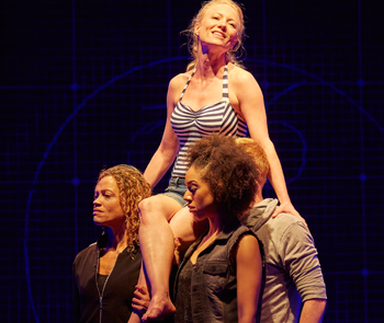 Indra Ove, Mary Stockley and Pearl Mackie in The Curious Incident of the Dog in the Night-Time. Photo: Brinkhoff Moegenburg