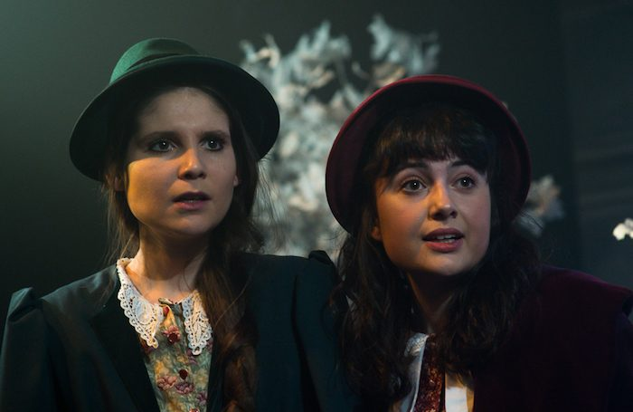 Rebecca Rayne and Julia Pagett in The Wolves of WIlloughby Chase at Jack Studio Theatre. Photo: Tim Stubbs Hughes/Grey Swan