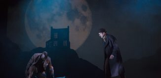 Patrick Robinson, Edward Harrison and Jay Taylor in Baskerville – A Sherlock Holmes Story at Liverpool Playhouse. Photo: Ellie Kurttz