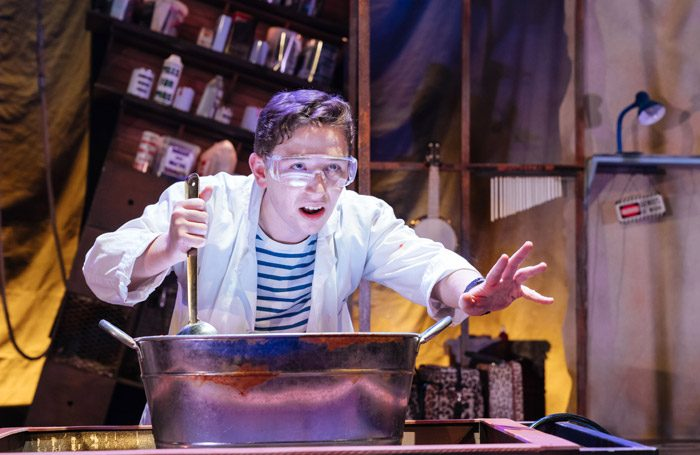 Preston Nyman in George's Marvellous Medicine at Curve, Leicester. Photo: Manuel Harlan