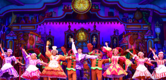Gary Wilmot, Charlie Stemp and Emma Williams in Dick Whittington at the Palladium. Photo: Paul Coltas