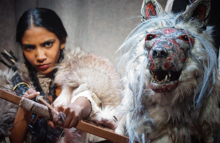 Mariska Ariya in White Fang at Park Theatre, London. Photo: Jethro Compton