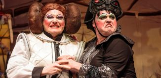 Jason Marc-Williams and Alistair Barron in Cinderella, at Southport Theatre