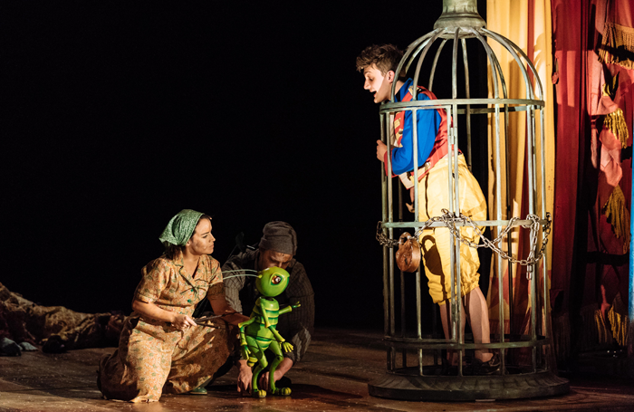 Audrey Brisson, James Charlton and Joe Idris-Roberts in Pinocchio. Photo: Manuel Harlan
