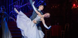 Andrew Monaghan and Ashley Shaw in Matthew Bourne's Cinderella at Sadler's Wells. London. Photo: Tristram Kenton