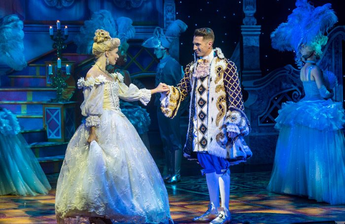 Gillian Parkhouse and James Darch in Cinderella at King's Theatre, Edinburgh