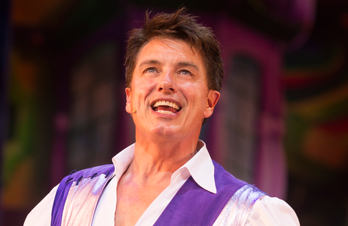 John Barrownman in Dick Whittington) at Manchester Opera House. Photo: Phil Tragen