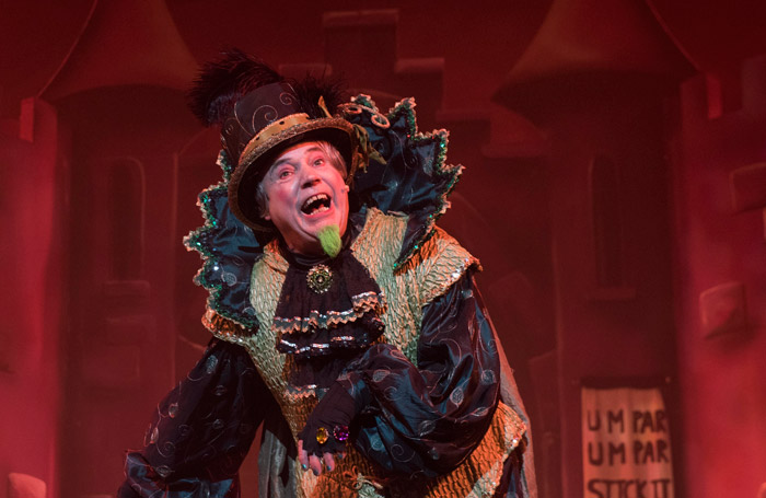 Mark Little in Jack and the Beanstalk at Mansfield Palace Theatre